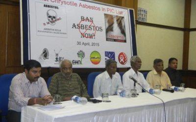 Press Conference on Ban Asbestos, Delhi April 2015