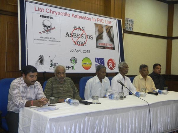 Press Conference on Ban Asbestos, Delhi April 2015